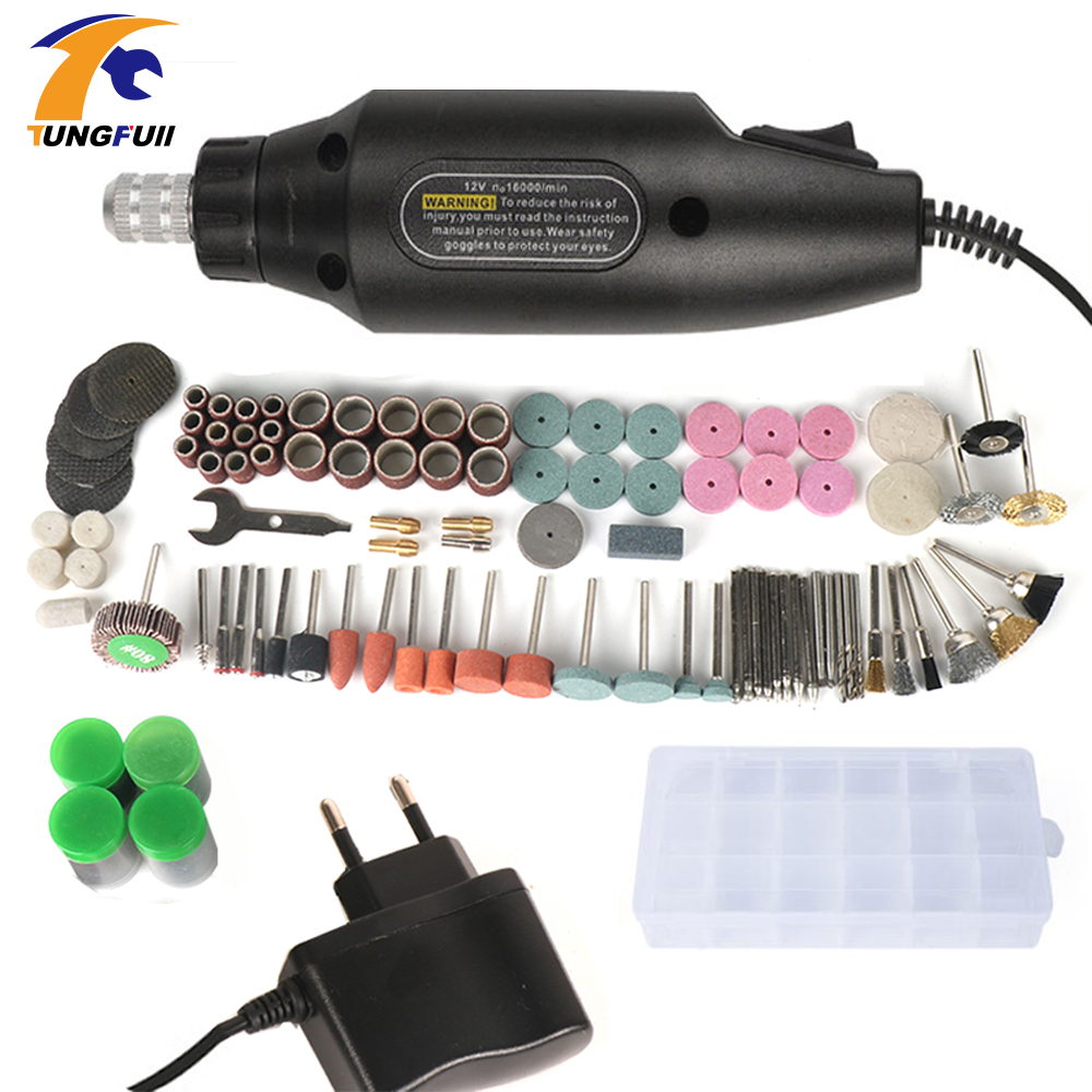 Tungfull 220v Ac Electric Drill Electric Grinding Set Grinder Power Tool For Milling Polishing Drilling Engraving Carving