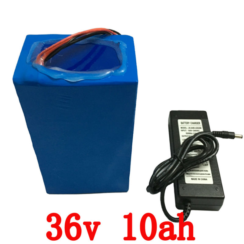 Free customs taxes Factory 36V lithium battery 10AH 700w electric Bicycle Scooter Battery 36v with 42v 2A Charger,20A BMS eBike free customs taxes factory36 volt battery pack with charger and 20a bms for 36v 10ah lithium battery