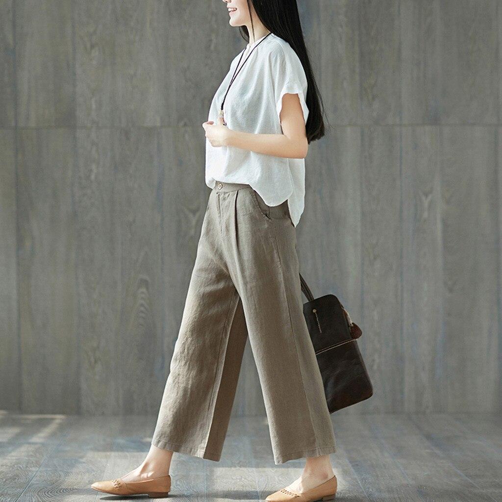 New Women Casual Solid Trousers Ladies Loose   Pants   Pantalones De Mujer Calca Feminina Palazzo   Pants     Wide     Leg     Pants