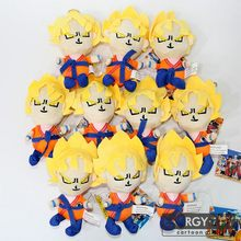 10 pçs/set Dos Desenhos Animados Dragon Ball Z SON GOKU Vegeta Saiyan pingente stuffed toy suave plush doll figura(China)