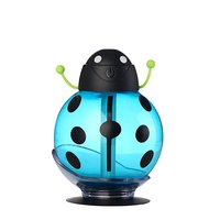Air Humidifier FlatLED Portable USB Air Freshener Beatles Car Humidifier Aroma Diffuser with Night Light for Home Office Travel