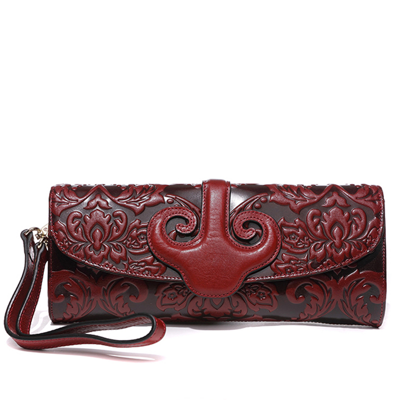 Chinese Style Vintage Embossing Genuine Leather Hand Clutch Bag Celebrity Day Clutches Women Shoulder Bag Purse Wallet Phone Bag chinese style vintage embossing genuine leather hand clutch bag celebrity day clutches women shoulder bag purse wallet phone bag