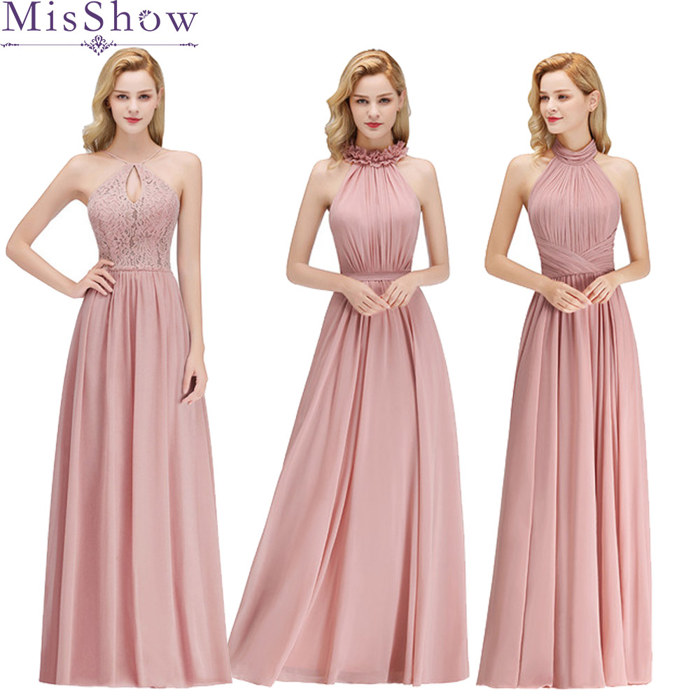 robe demoiselle d'honneur pour femme Pink Hater long   Bridesmaid     Dresses   colors   dress   for wedding party, Prom party   dress   women