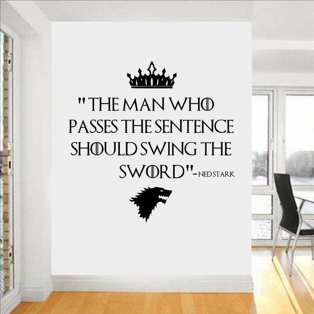game of thrones direwolf inspired quotes wall art decal custom vinyl