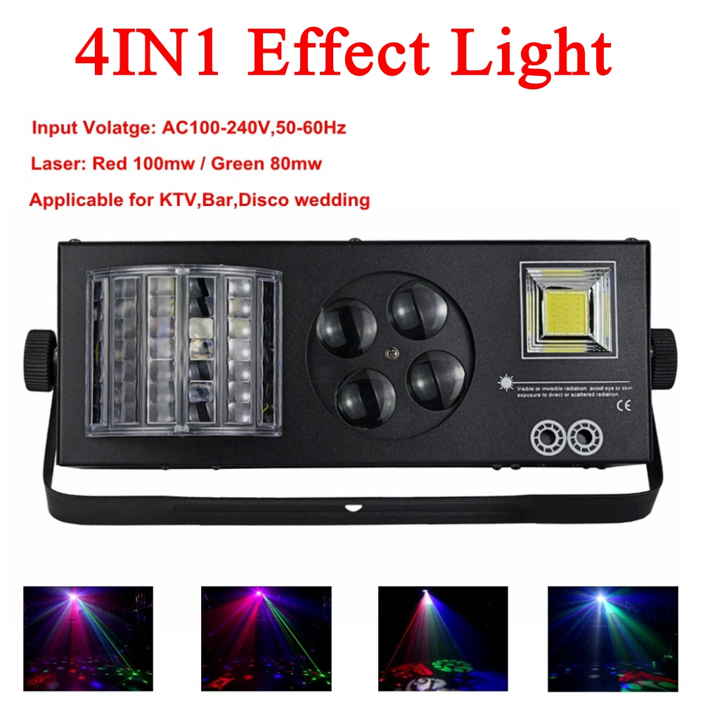 Home Disco Lights: Newest Dj Equipment 4IN1 Laser Party Stage Light Dmx512