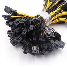 10 teile/los 6-pin PCI Express zu 2 x PCIe 8 (6 + 2) pin Motherboard Graphics Grafikkarte PCI-e GPU VGA Splitter Power daten Kabel