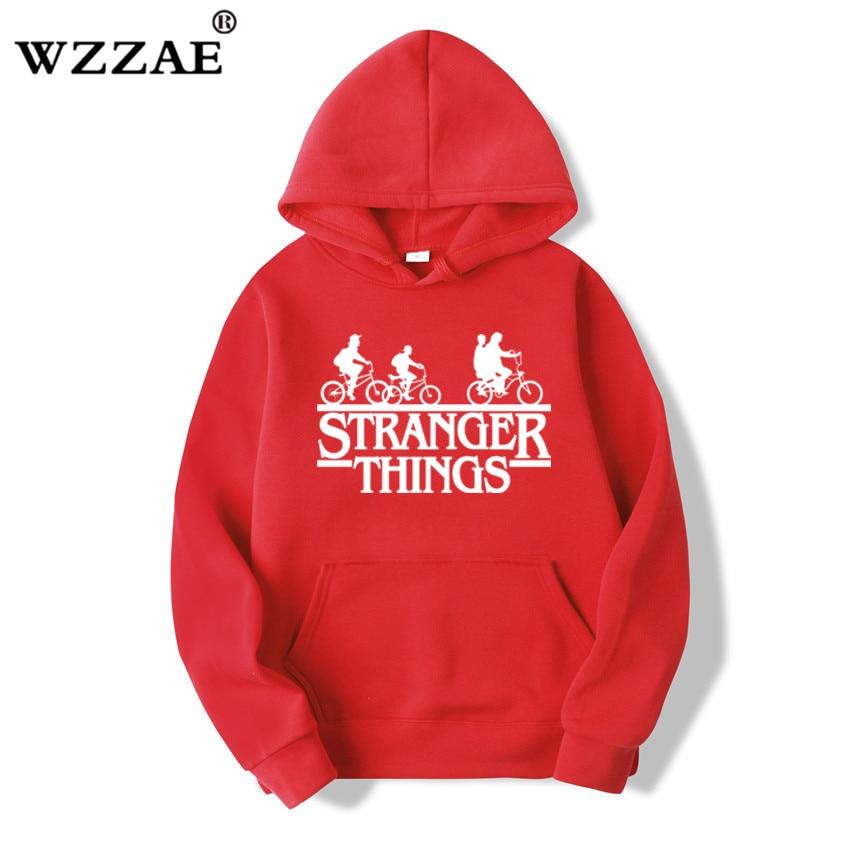 Trendy Faces Stranger Things Hooded Hoodies and Sweatshirts 38