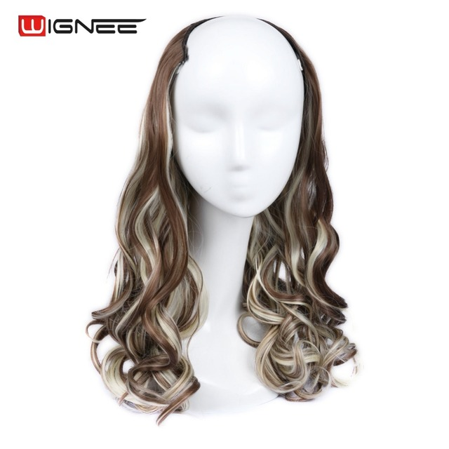 Wignee U Part Clips In Wavy Hair Extension Half Wig For Women High
