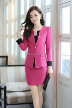 New Style Women's Fall Business Suits Professional Clothes Work Sets Autumn Winter Formal Blazers Office Skirt Sets Size S-4XL