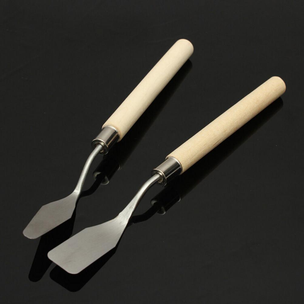 1Pcs Math Set Stainless Steel Oil Knives Artist Crafts Spatula Palette Knife For Oil Painting Art Supplies Wholesale