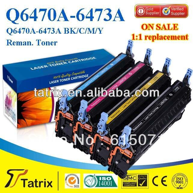 ФОТО FREE DHL MAIL SHIPPING For HP Q6470A Toner Cartridge Compatible Q6470A Toner