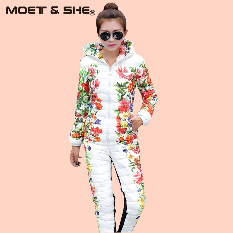 ФОТО  New Women Winter Cotton Jacket Suit  Slim  Warm Windproof Fleece Thick   S6N183Y