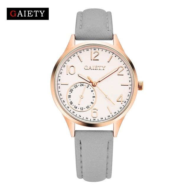 a341bae811f Pulseira de couro Relógio de Pulso Das Mulheres Moda De Luxo Relógios de  Quartzo Mulheres Pulseira