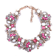 Fashion Crystal Necklace Clothing Chain Exaggerated Luxury Necklace for Wedding Party Jewelry Accessories цена