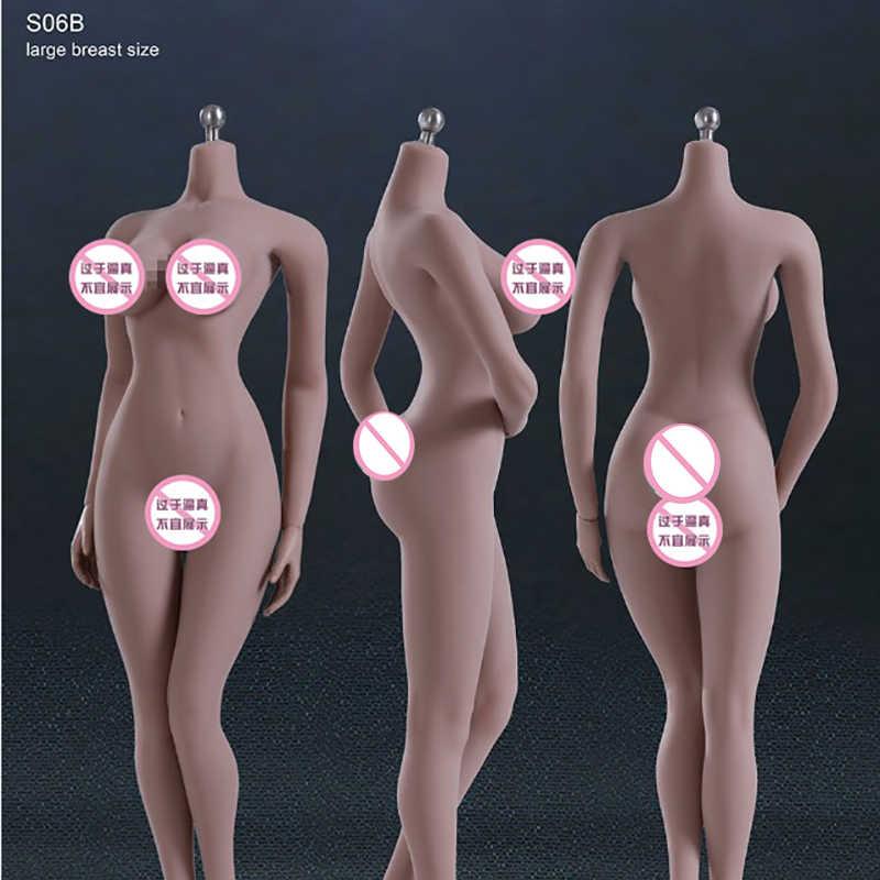 "Escala 1/6 PLMB2014-S06 PHICEN Super-Flexible busto grande femenino con acero inoxidable juguetes esqueleto de trigo con pies sin cabeza 12 ""figura"