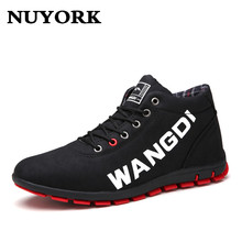 NUYORK Autumn men shoes boots casual fashion lace-up Hombre men shoes High Quality men ankle boots spring short boots  2017