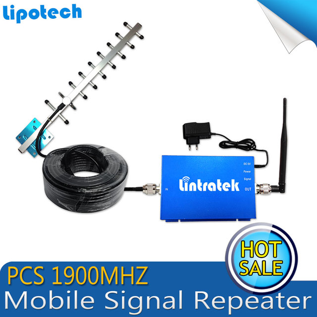HOT Cellular Mobile Signal Booster 1900 MHz PCS Signal Repeater Cell Phone Signal Amplifier with Antenna for Family Use 1900MHZ