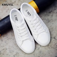 2016 New Male Students Canvas Shoes White Shoes Tide Breathable Casual Men B1