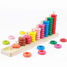 Baby Toys Count match 1-10 number abacus Teaching Aids Montessori Board Arithmetic Wooden Toys Child Educational Gift Math Toy