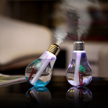 7 Colors changing DC 5V 400ML USB light bulb Air Ultrasonic Humidifier Oil Essential Aroma Diffuser Mist Maker Fogger