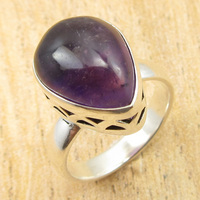 Ring Size US 6 5 Silver Overlay Low Price Amethysts CHRISTMAS Gift NEW