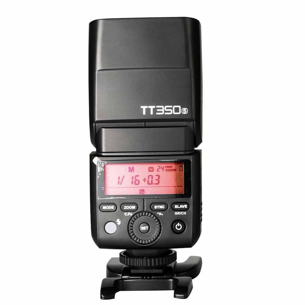 2X Godox TT350S Camera Sáng TTL HSS 1/8000 S 2.4G Speedlite Cho Sony Sony Máy Ảnh Không Gương Lật a7RII A7R A58 A99 ILCE6000L