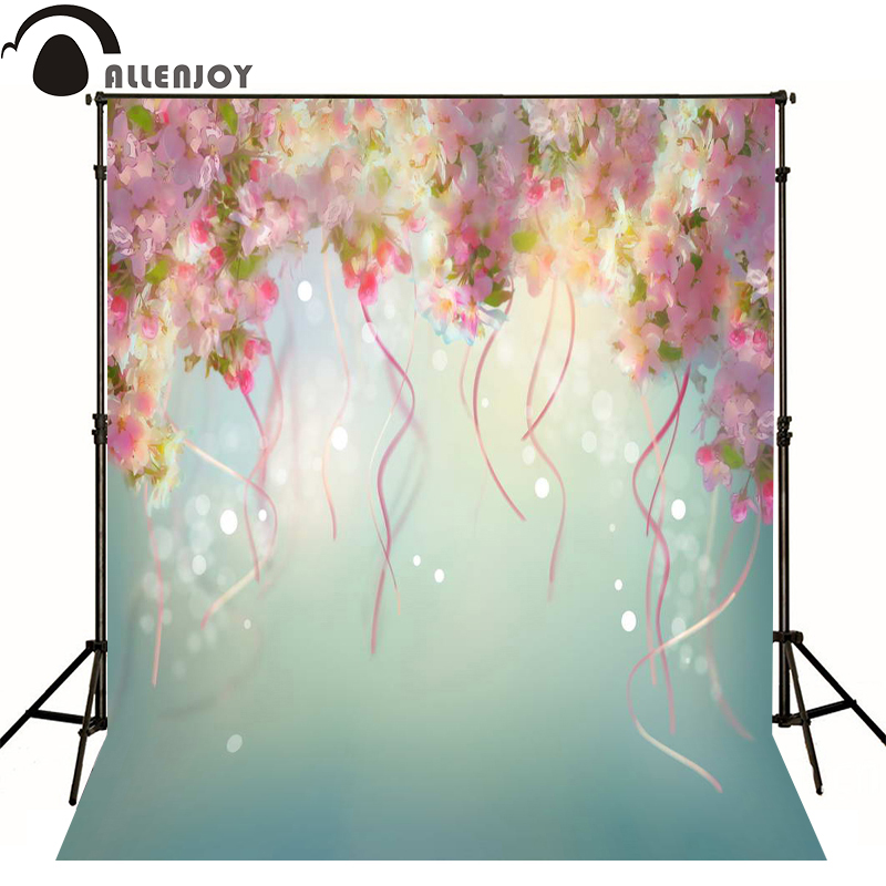 Allenjoy photography backdrops Dim lighting effects flower leaves photo background newborn baby photocall lovely photo studio