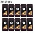 Retekess 10 pcs Coaster Pager Ontvanger voor T111/T112 Draadloze Restaurant Paging Queuing Systeem Oproepsysteem 433 MHz