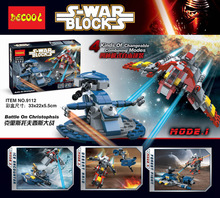 Decool 9112 Star War Battle on Chirstophsis 4 Kinds of Changeable Combining Modes Minifigure Building Block Best Toys