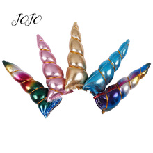 JOJO BOWS 4pcs Cloth Patches Unicorn Horn Accessories DIY Fashion Kid Headband Party Hairband Girls Hair
