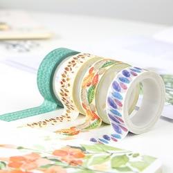 1 Pcs Beleza Deixa Washi Tape fita De Papel DIY Decorativa Fita Adesiva Mascarando Fitas Autocolantes Tamanho 15mm * 5 m fita adesiva Escritório Escola