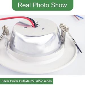 Image 5 - Kaguyahime 1pc/4pcs 3W 15W LED Downlight 110V 220V Round LED Ceiling Recessed Spot Light 5W 7W 9W 10W 12W 15W Aluminum Surface