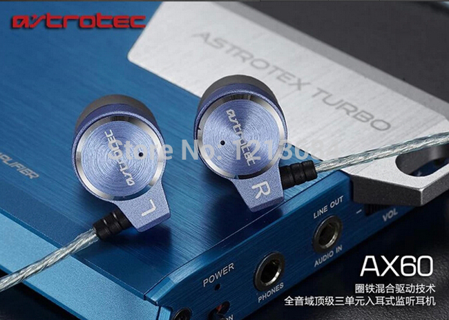 Astrotec AX60 Hybrid Triple-Driver Balanced Armatured Deep Bass Dynamic Stereo In-ear Music Monitor HiFI DJ Earbuds Earphones sur s525 dynamic stereo music in ear earphones drive by wire