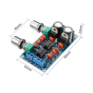 Image 3 - AIYIMA Amplifier Preamp Low Pass Filter Board Hifi Subwoofer Preamplifier Low Pass Filter Board With Bass Volume Adjustment