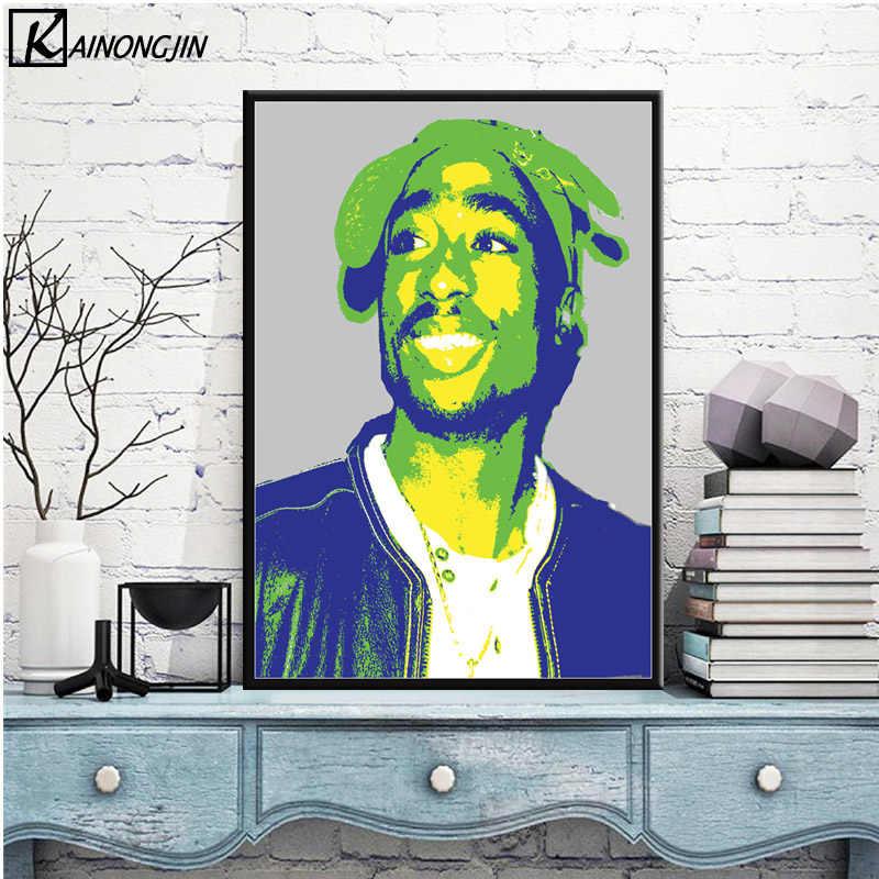 Plakaty i druki Tupac Shakur notorycznie B.I.G. Biggie 2pac plakat na płótnie malarstwo ścienne obraz sztuki do salonu wystrój domu