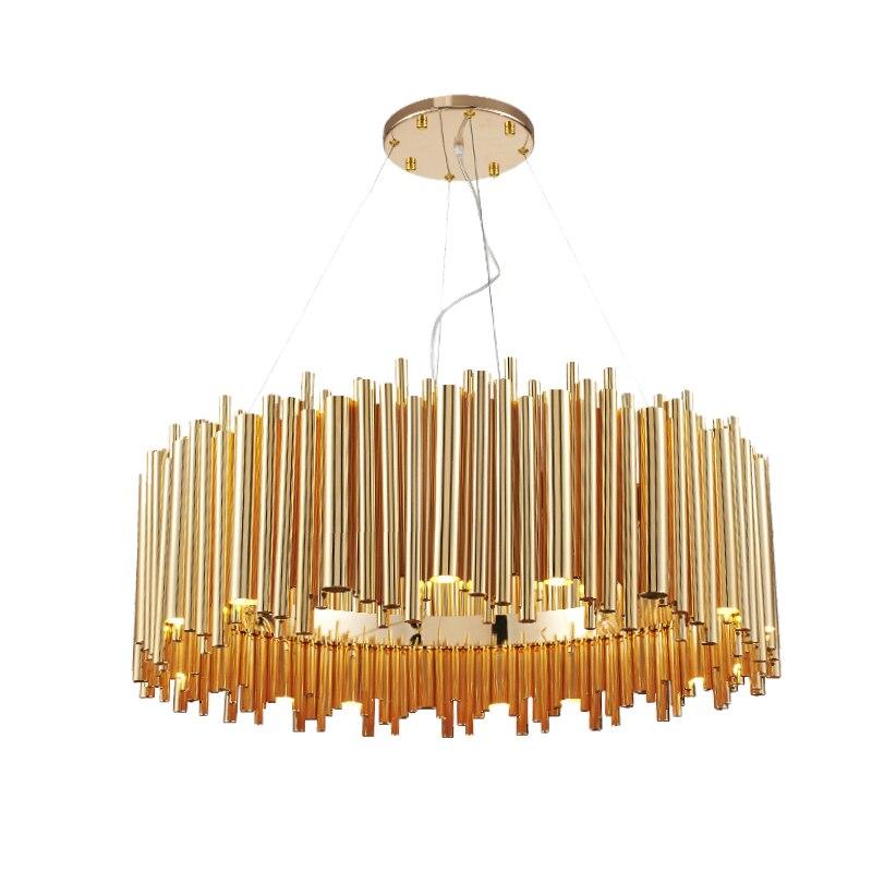 Post Modern Design Gold Aluminum Tube Pendant Light Italy Design Delightfull Lighting Lustres Led Project light цены онлайн