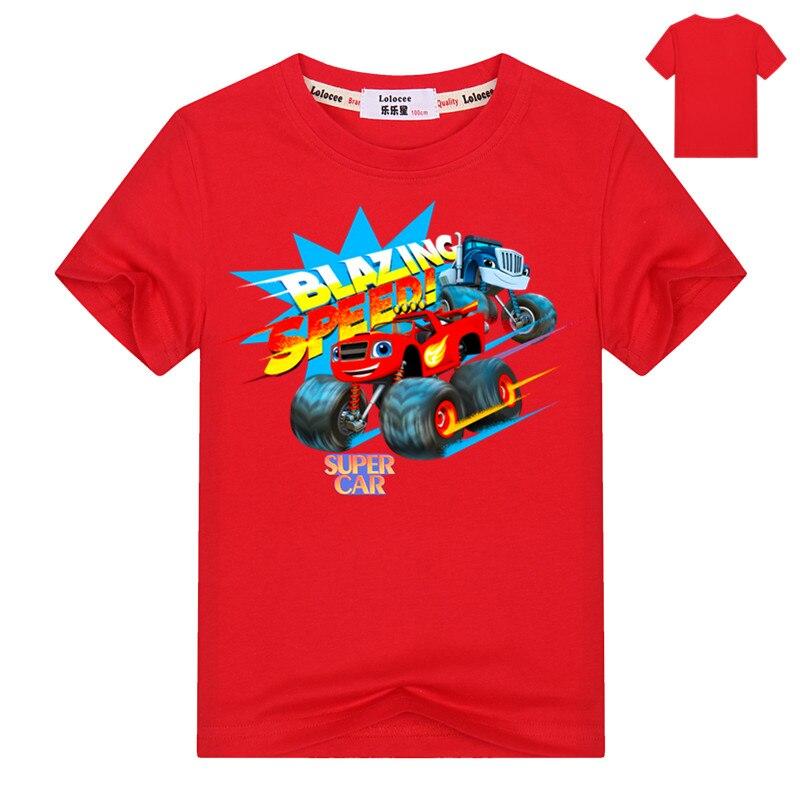 Fashion Baby Boys tshirt Children t shirts Blouses Kids Blazing Tops Cartoon Car Print Clothing Infants Costume Party Shirt 3