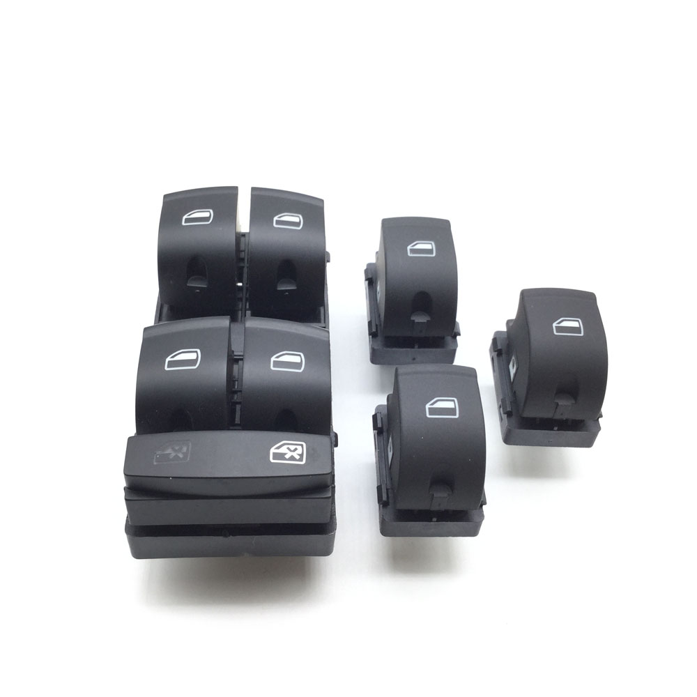 3pcs High Quality New Window Switch Control Button For Audi A6 S6 C6 Rs6 Allroad A3 Q7 4f0959855 4f0 959 855 Interior Parts