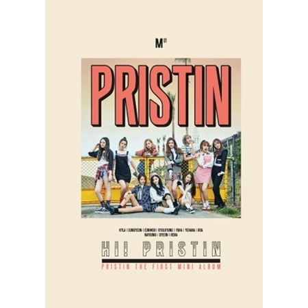 PRISTIN 1ST MINI ALBUM - HI! PRISTIN  (PRISMATIC VER) Release Date 2017.03.26 aosbos fashion portable insulated canvas lunch bag thermal food picnic lunch bags for women kids men cooler lunch box bag tote