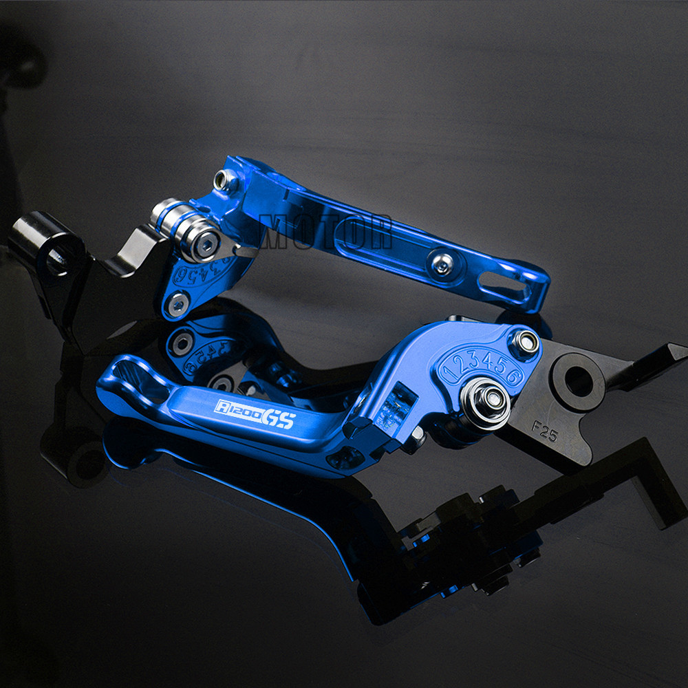 Motorcycle CNC Aluminum Folding Brake Clutch Levers For BMW R1200GS LC 2013 2018 R1200 GS 2004 2012 Adjustable Foldable R 1200 in Levers Ropes Cables from Automobiles Motorcycles