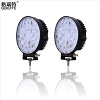 2pcs Lot 72W Round Waterproof LED Work Light Truck Driving Lamp Floodlight Offroad Light For ATV