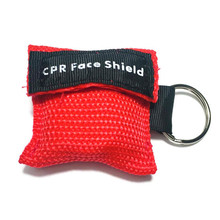 1pcs CPR Resuscitator Mask 30:2 Disposable First Aid Skill Training Face Shield Breathing Mask Mouth Breath One-way Valve Tool