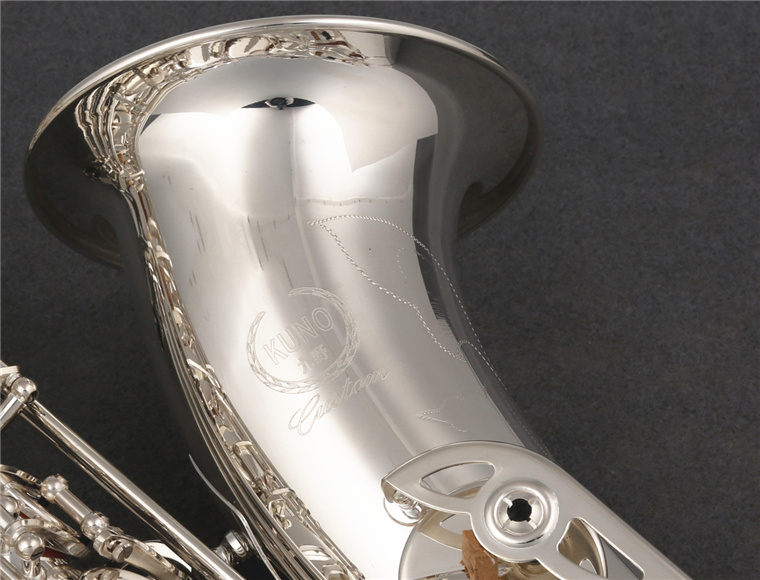 Professional Janpan KUNO KTS-902 Tenor Brand Saxophone Bb Tune Exquisite Silver Plated Woodwinds Instrument With Mouthpiece Case silver plated double french horn f bb 4 key brand new with case