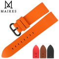 MAIKES New good quality watch accessories watchbands 22mm 24mm fluororubber watch bands men rubber sports watch strap