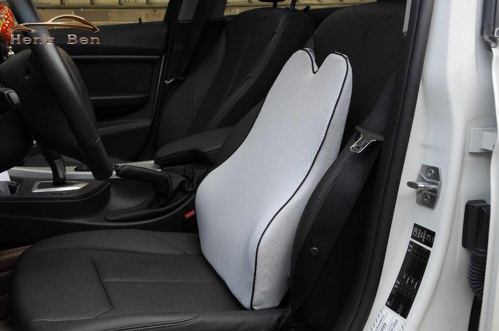 Support lombaire de taille de voiture de mousse de mémoire de HB pour le bureau accueil siège de voiture chaise quatre saisons coussin de taille sain