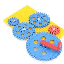 Шестерня Набор игрушек, шестерня сплайсинга, строительные блоки, пластиковые сборные игрушки, детская головоломка сборка модели игрушек