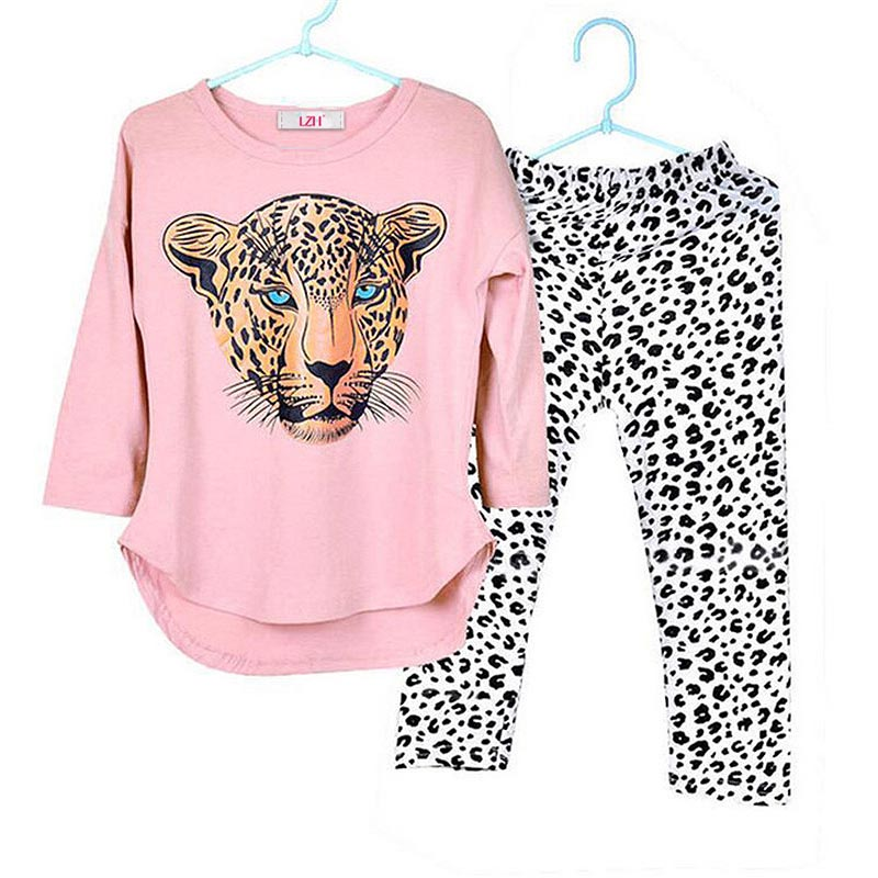 Children Clothing 2018 Autumn Girls Clothes Tshirt+Pant Sport Suit For Girls Tracksuits Clothing Set Kids Clothes 3 4 7 10 Years children boys clothes 2018 autumn winter girls clothes batman costume hoodie pant outfit kids sport suit for girls clothing sets