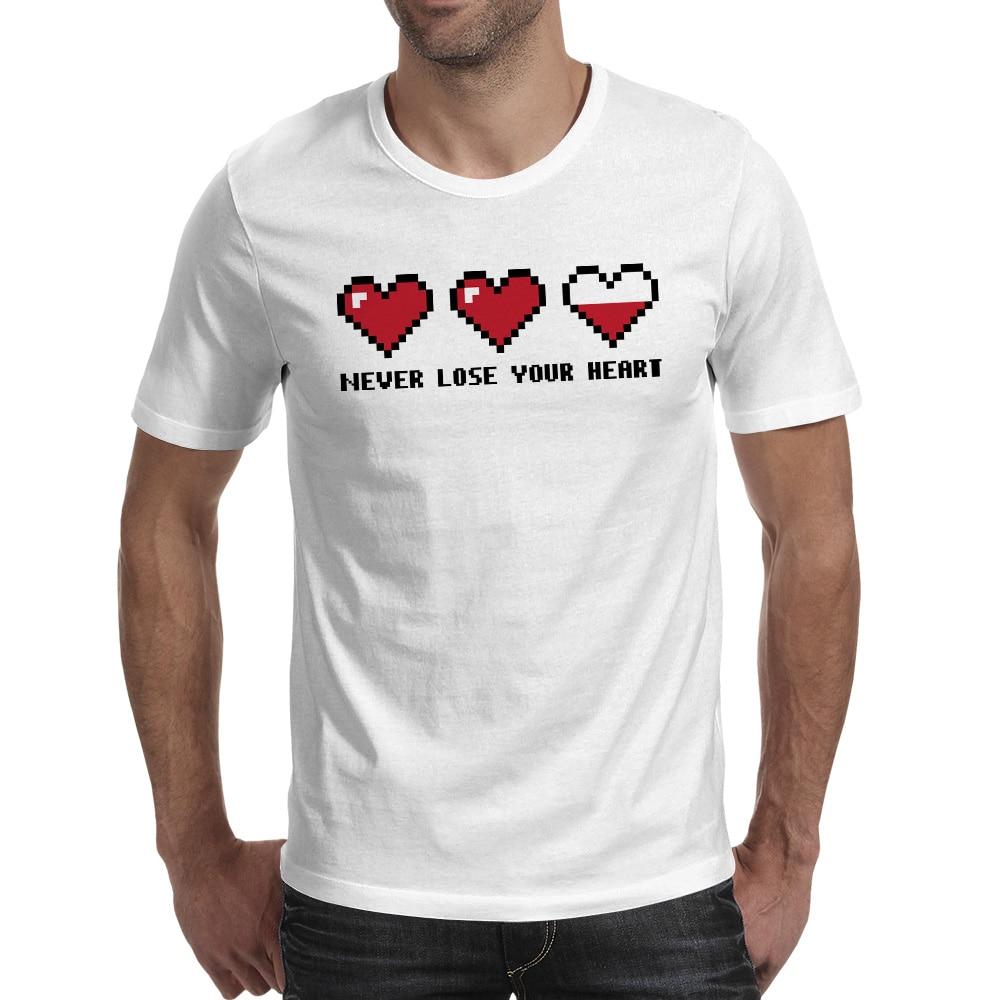 Nunca pierda su corazón Camiseta Estilo Diseño Moda Camiseta - Ropa de hombre
