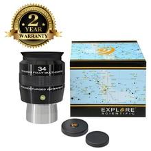лучшая цена New Explore Scientific Eyepiece 68 degree Extreme Wide Field Waterproof 2inch 34mm Argon-Purged