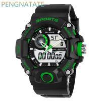 Grote Dial Sport Horloge Mannen Digitale LED ALIKE Merk Mode Man Casual Dual display Horloges Relogio Masculino PENGNATATE